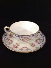Minton England Davis Collamore & Co. Ltd. Ornate Roses & Gilt CUP & SAUCER
