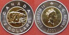 Specimen 2001 Canada 2 Dollars From Mint's Set