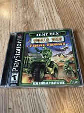 Army Men: World War -- Final Front (Sony PlayStation 1) Ps1 Resurfaced Disk ES