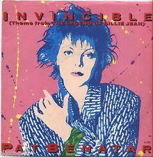 """PAT BENATAR - Invincible - VINYL 7"""" 45 RPM LP 1985 NEAR MINT COVER VG+ CONDITION"""