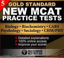 5 MCAT Practice Tests: New MCAT Exam Practice Questions [2017 preparation]