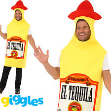 Adult's Tequila Bottle Costume Mexican Drinking Party BBQ Fancy Dress Outfit