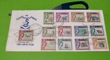 Private Cover Malaysia Sabah State Overprint North Borneo QE Stamp Set FDC 1964