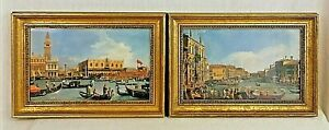 Giovanni Antonio Canaletto (1697-1768) Pair of Gilt-Framed, Prints of Venice