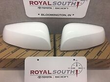 Toyota Tacoma 16-17 White 040 Outer Mirror Covers Set W/ TS Genuine OEM