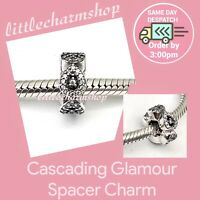 New Authentic Genuine PANDORA Cascading Glamour Spacer Charm -796270CZ RETIRED