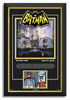 Adam West Burt Ward Signed Batman Classic TV Series 1966 Movie Museum Frame /66