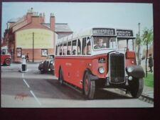 POSTCARD NORTH WESTERN ROAD CAR CO. BRUSHED BODIED BRISTOL SEEN LEAVING WILMSLON