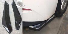 Universal Carbon Fiber Look Rear Bumper Lip Diffuser Splitter Canard Protector
