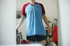 True Vintage SHINY Erima 80er TRIKOT Shirt Gr 9/10 XL burgunder blau 80s fitness