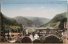 Irish Postcard LOWER LAKE fm the Cathedral GLENDALOUGH Wicklow Ireland O'Connor