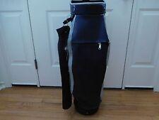 Vintage Brunswick CLUB KING Cart Bag~14 Fixed Individual Club Tubes~ Rain Hood~