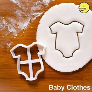 Baby Jumpsuit Clothes cookie cutter | baby shower birthday party biscuit newborn