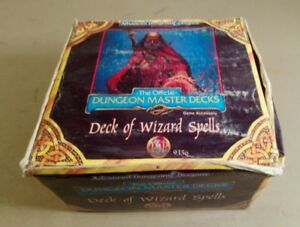 advanced dungeons and dragons 2nd edtn dungeon master deck of wizard spells 9356