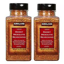 TWO jars Kirkland Signature Sweet Mesquite Seasoning 19.6 OZ Each