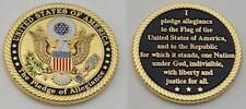 """United States of America """"The Pledge of Allegiance"""" Challenge Coin w/s FD IN USA"""