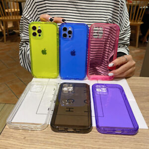 For iPhone 12 Pro Max XS 11 XR 6 7 8 Shockproof Clear TPU Protective Cover Case