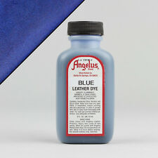 Angelus BLUE LEATHER DYE 3oz Bottle Industry Strength Dye Vibrant Colors