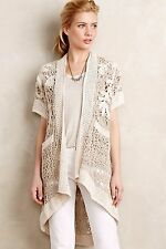 ANTHROPOLOGIE Lana Crochet  Cardigan by Angel of the North S/P NEW WOT