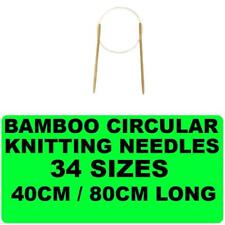 New Bamboo Circular Knitting Needle Sewing Yarn Various Sizes Tapestry Needles