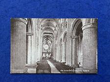 Sepia postcard: Durham, cathedral interior, nave