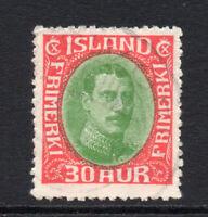 Iceland 30 Aur Stamp Used c1931-33 (3390)