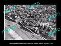 OLD 8x6 HISTORIC PHOTO OF SHERINGHAM ENGLAND THE SLIPWAY & WATERFRONT c1930