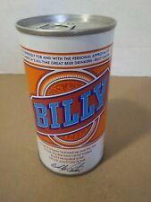 Vintage Beer Can( Billy Beer) 12 Oz Pull Tab Heavy Steel. Billy Carter