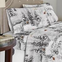 Celeste Home Winterland 190 GSM Cotton Flannel Velvet Feel TWIN Sheet Set 4pc