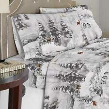 Celeste Home Winterland 190 GSM Cotton Flannel Velvet Feel TWIN Sheet Set 4pc