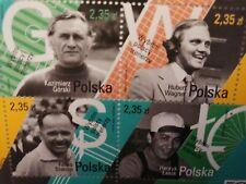 Polish stamp, Polska, mint, sheet, sport, coaches, Gorski, Wagner, Stamm, Lasak