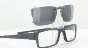 Custom Fit Polarized CLIP-ON Sunglasses For OAKLEY AIRDROP OX8046 53x18 TAB 8046