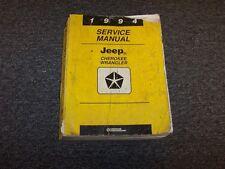 1994 Jeep Cherokee & Wrangler Shop Service Repair Manual Book S SE Sport Sahara