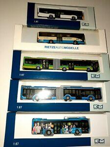 5 Teile, Rietze MB Citaro, Verkehrsbetriebe, MAN, Bus, Stadtlinie,Rarität