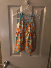 Hanna Andersson Girls Tank Dress Size 80=10 to 24 Mos. Or 2T 100% cotton