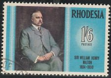 Rhodesia Zimbabwe 1969 Famous Rhodesians, Sir W H Milton (3rd Issue) Used