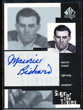 1999-00 SP AUTHENTIC MAURICE RICHARD SIGN OF THE TIMES AUTO SOTT AUTOGRAPH