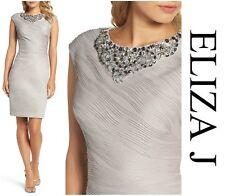 ELIZA J  EMBELLISHED NECKLINE SHEATH SEXY CHIC COCKTAIL DRESS  Sz 10P NEW  $ 238