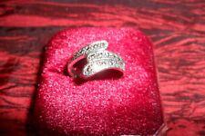 FASHION Lady ORIGINALE 925 Argento Sterling LUCIDO CRISTALLO bellissimo anello + regalo L/6