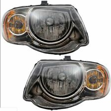 Pair Set Headlights Headlamp Housing Assembly for 05-07 Chrysler Town & Country