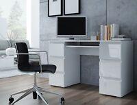 Dante White High Gloss / Matt Large Computer PC Home Executive Study Office Desk