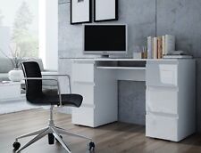 Large white office desk Beautiful White Dante White High Gloss Matt Large Computer Pc Home Executive Study Office Desk The Architects Guide Large White Desk Ebay