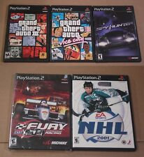 Grand Theft Auto 3 & GTA Vice City SpyHunter NHL 2001 CART Fury Racing PS2 CIB