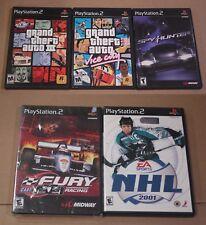 Grand Theft Auto 3 & GTA Vice City SpyHunter NHL 2001 CART Fury Racing PS2 CIB