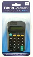 Pocket Calculator Big Buttons Solar Battery Memory Office School Black Uk Sale