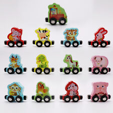 13pcs Wooden Train Set for Toddlers - (Train with Figures) -  for Kids Toy