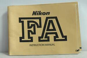 Nikon FA Operating Instructions Manual
