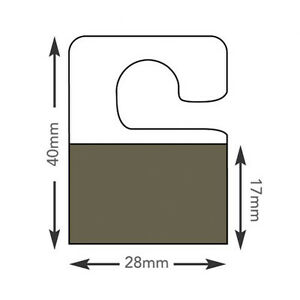 Hang Tabs Self Adhesive Clear Sticky Plastic Hanger 4x2,8 cm 5000  tabs (HT349)