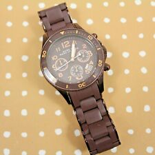 Marc Jacobs MBM3122 Brown Stainless Steel Silicone Women's Chronograph Watch