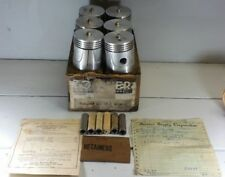 New Old Stock Set of 6 Zollner 501P Pistons Semi Sized From 1940's
